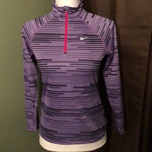 Nike running Dri-Fit quarter zip! Women's size L!